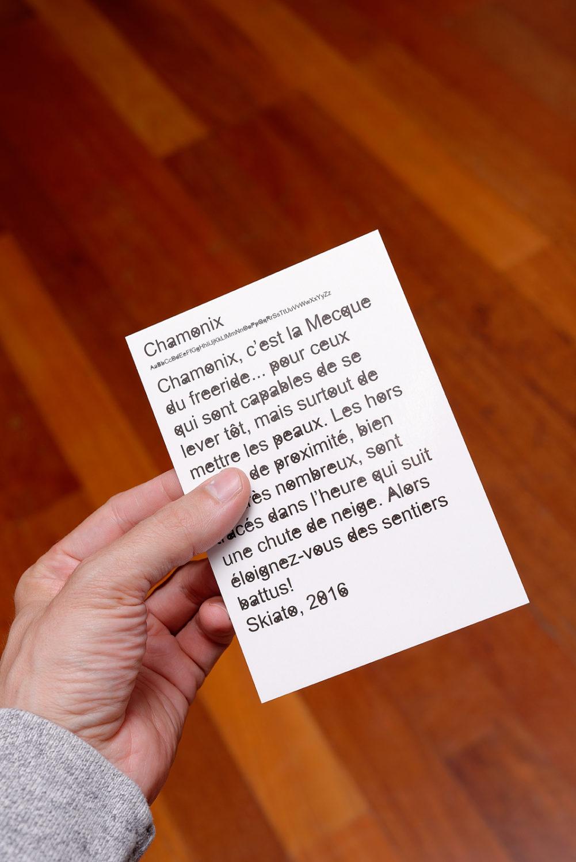 Chamonix, Les Gets, Mégève Handscript - Villa du Parc